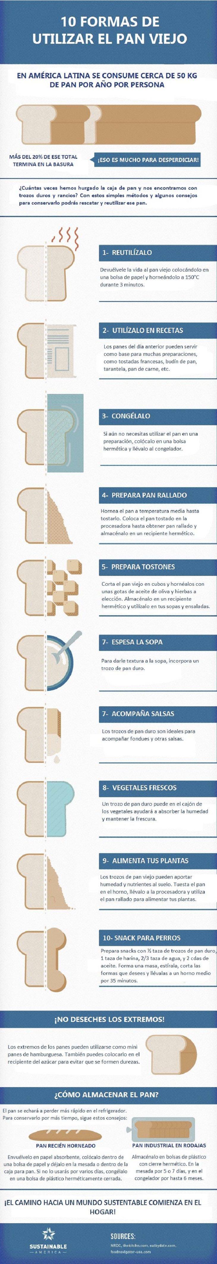 10 formas de utilizar el pan duro