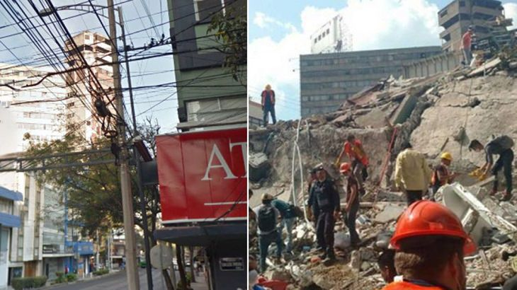 terremoto mexico; antes y después