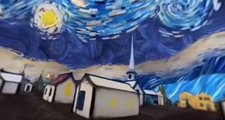 caminar dentro de pintura Van Gogh
