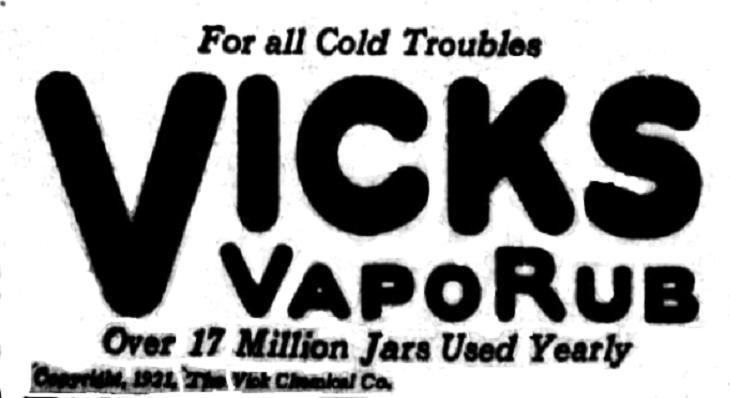 VapoRub  Vick Usos
