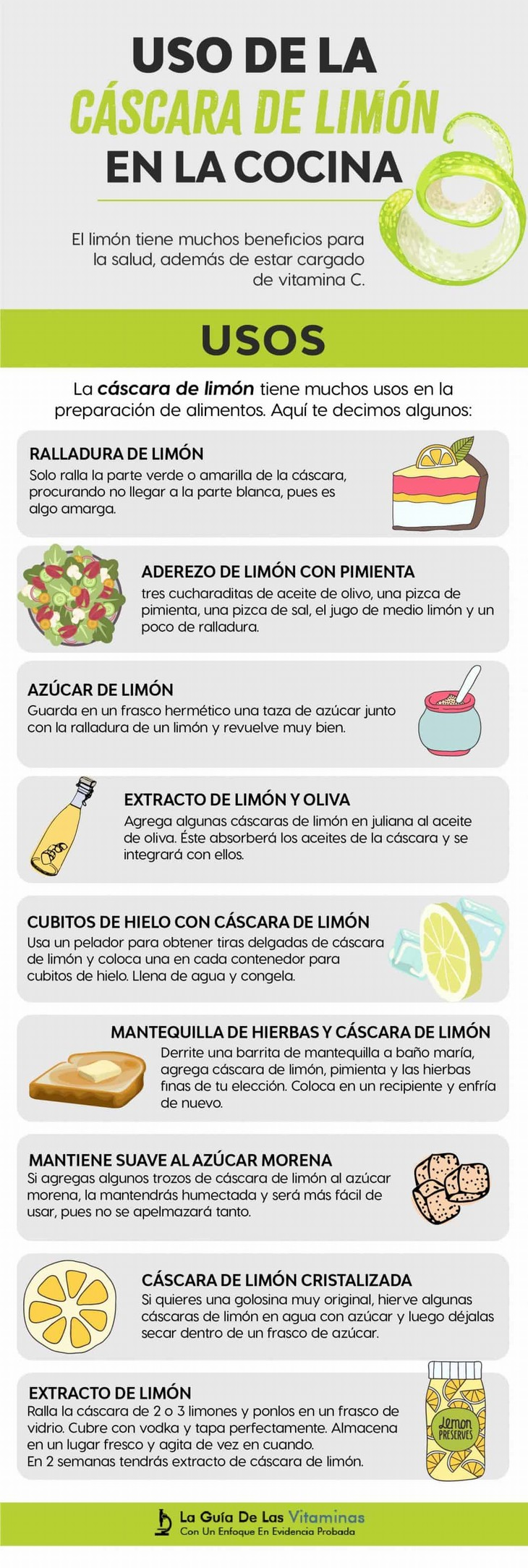 uso cáscara de limón