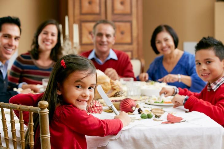 guía para las comidas en Navidad