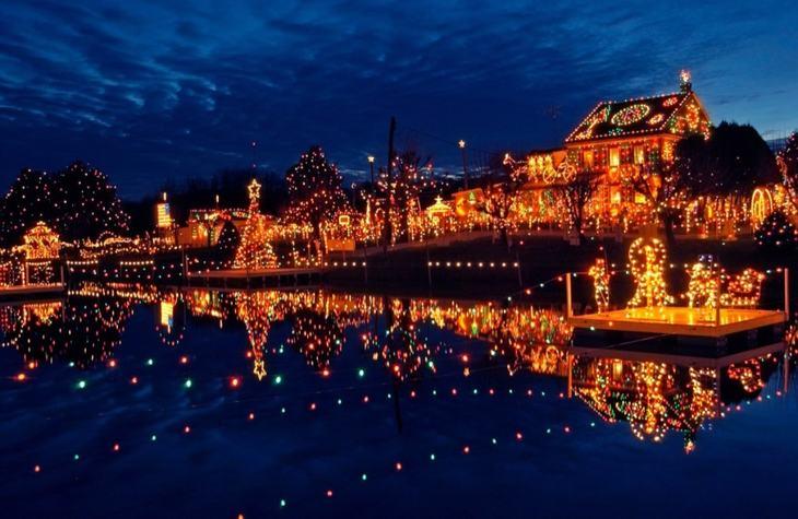 ciudades navidad américa norte