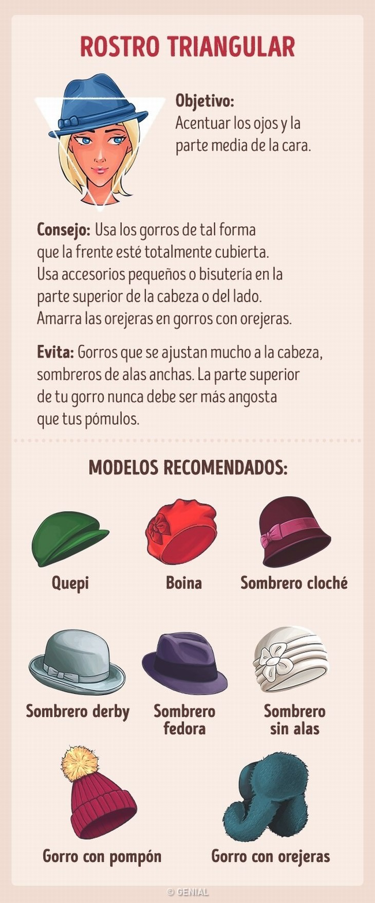 elegir sombrero tipo rostro