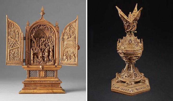 esculturas talladas en madera hermosas