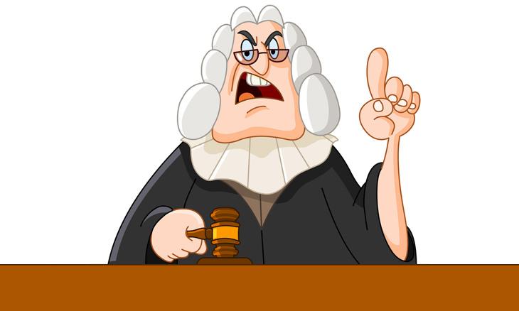 chiste: el cadáver y el tribunal