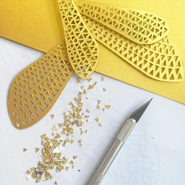 Detalles de arte en papel