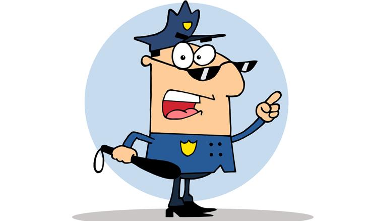 chiste policia novato