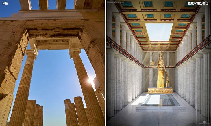 ruinas, recreación, arte, historia, pasado