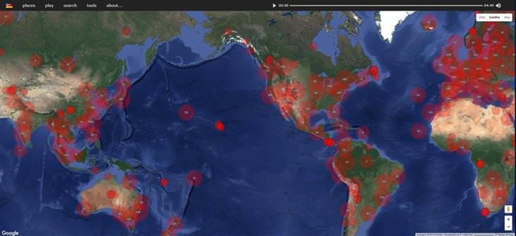 mapa sonidos mundo