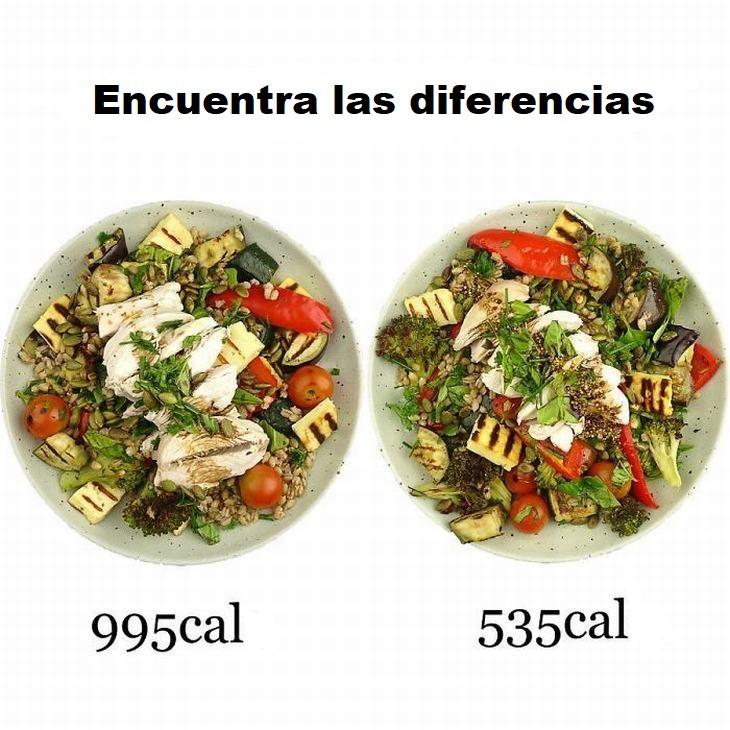 cambios comidas para reducir calorías