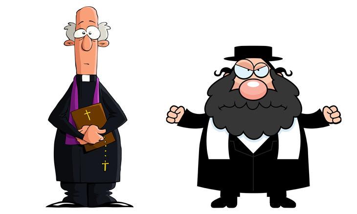 chiste rabino, pastor y cura