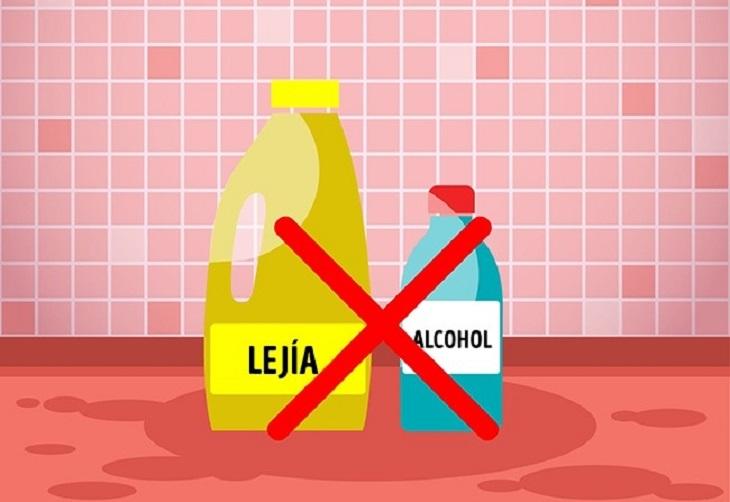 productos de limpieza no mezclar