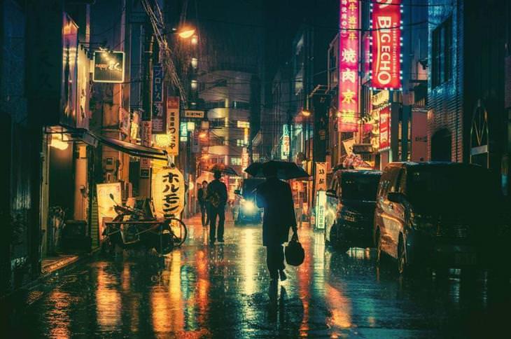 Imágenes De La Vida Real En Las Calles De Japón