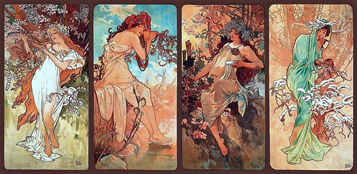 Pinturas  Alphonse Mucha