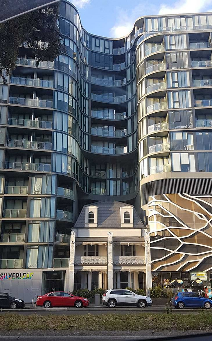 Casas En Medio De Edificios Melbourne, Australia