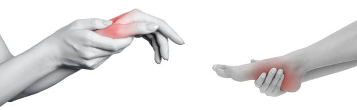 inflamación en manos y pies