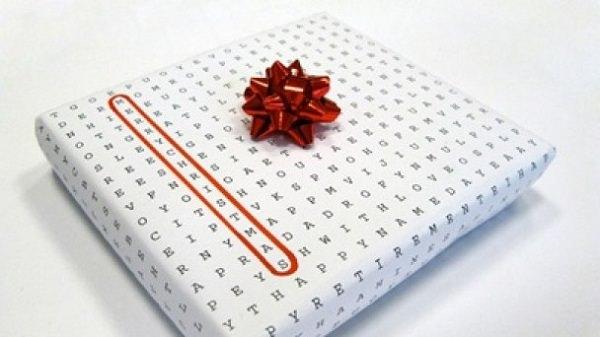 Envoltura papel crucigrama