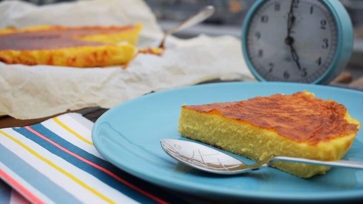 receta tarta de queso y pan de molde