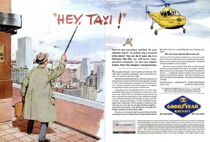 25 imágenes como nuestros antepasados imaginaron futuro taxi