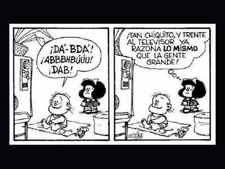 Mafalda ya razona lo mismo que los grandes