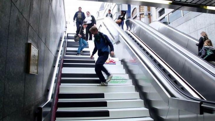 Experimento Escaleras de piano