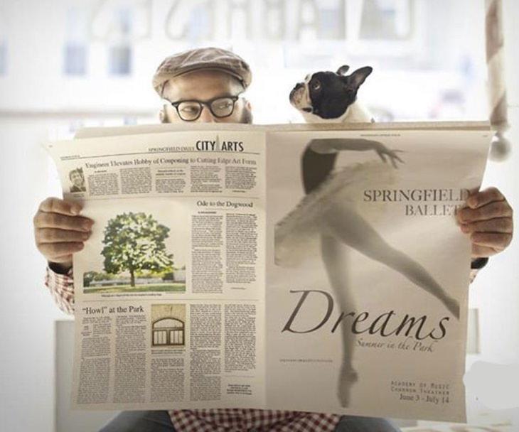 ilusiones ópticas perro bailarina periódico
