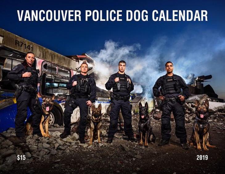 Calendario Perros De La Policía De Vancouver