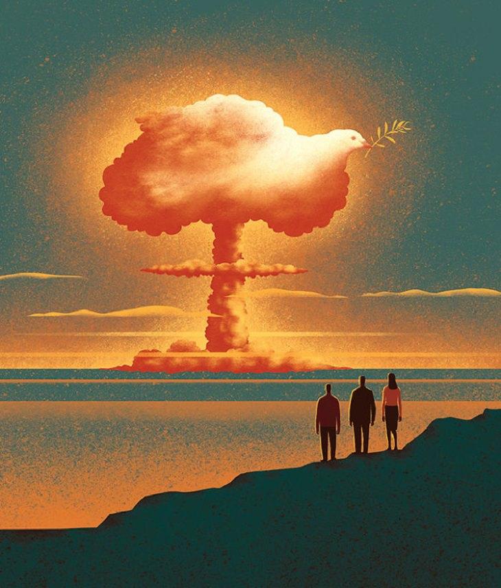 Imágenes Surrealistas ¿El miedo nuclear ha traído la paz?