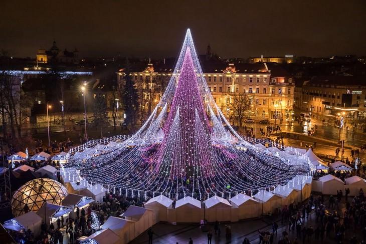Árboles De Navidad Vilna, Lituania