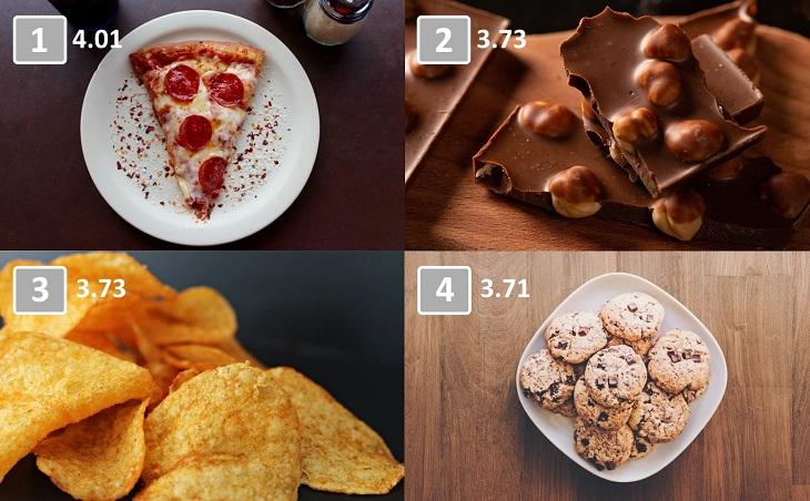 10 de los alimentos más adictivos pizza, chocolate, papas