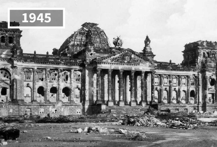 Imágenes Ayer y Hoy Reichstag, Alemania,