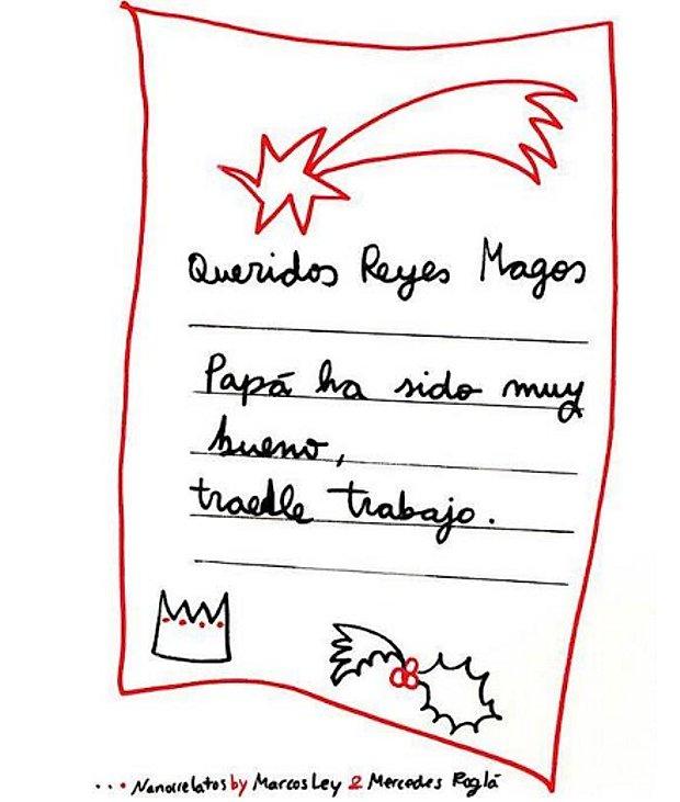 carta niña que pide trabajo para su padre a Papá Noel