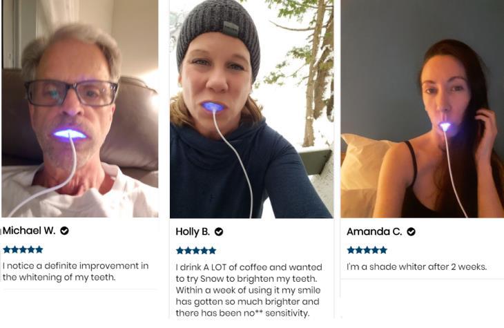 testimonios Snow blanqueamiento dental