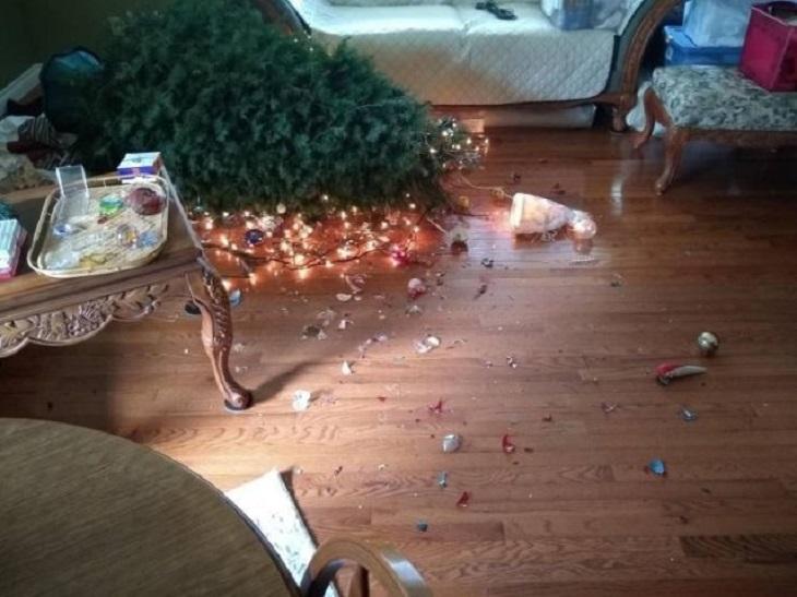 Árbol de Navidad en el piso