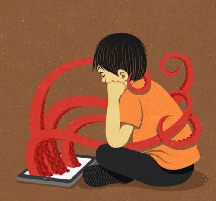 Imágenes Sociedad Moderna Adicción de los niños a dispositivos electrónicos