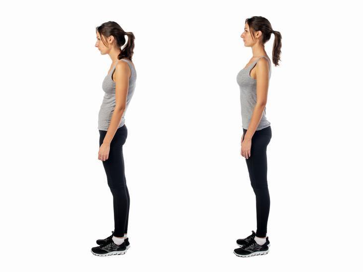 lenguaje corporal Mantén la barbilla y la cabeza en alto