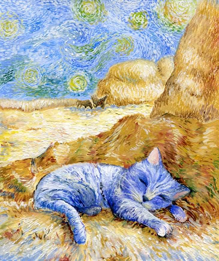 gatos en obras de arte
