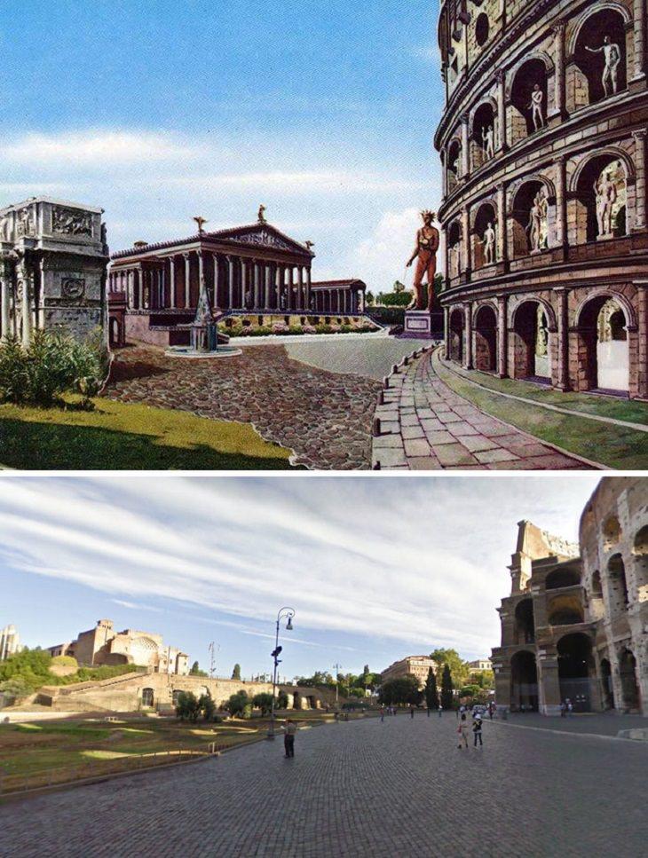Así Se Veían Estas Antiguas Ruinas Romanas En El Pasado