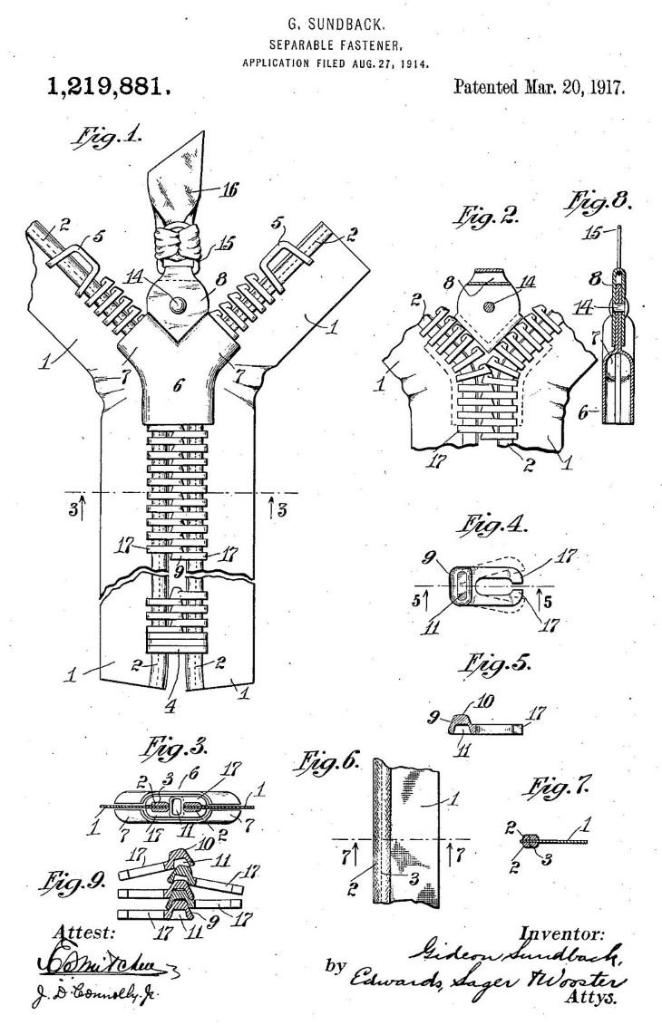 inventos segunda guerra mundial cremalleras