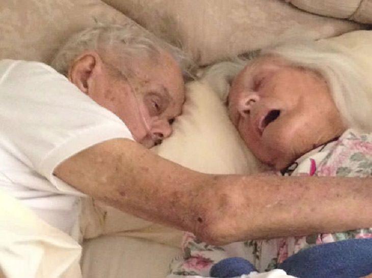 Después de 75 años de estar casados, murieron en los brazos del otro