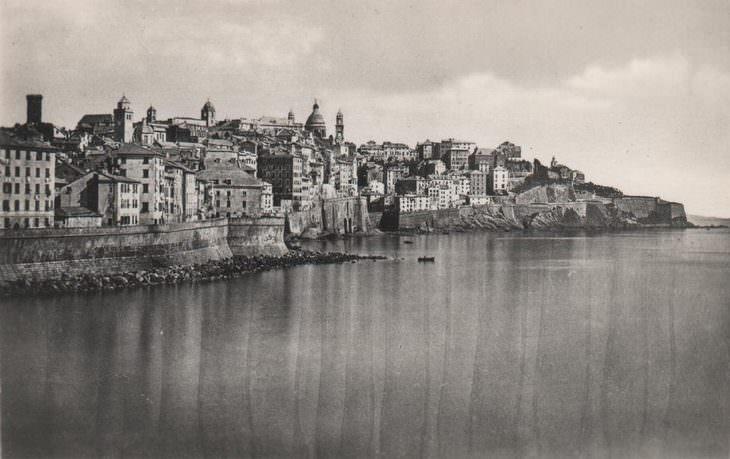 Fotos Históricas La antigua ciudad de Génova, Italia - 1875