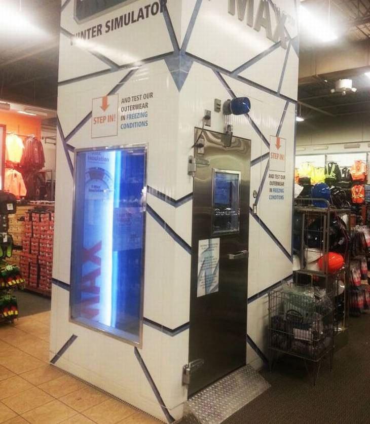 artilugios e inventos inteligentes encontrados en el simulador de invierno de la tienda