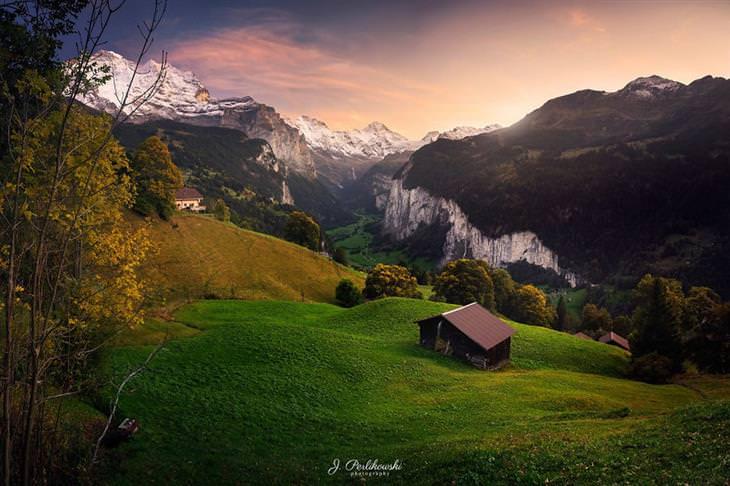 Fotos Del Valle De Lauterbrunnental Panorama montañas