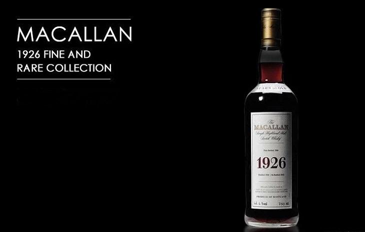 Licores, licores y alcoholes más caros vendidos en todo el mundo, Colección Macallan Fine and Rare de 1926, $ 75,000