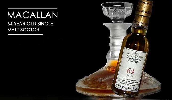 Los licores, licores y alcoholes más caros vendidos en todo el mundo, whisky escocés Macallan Single Malt de 9.64 años en Lalique: Cire Perdue, $ 460,000