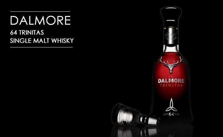 Los licores, licores y alcoholes más caros vendidos en todo el mundo, Dalmore 64 Trinitas Single Malt Whisky, $ 160,000