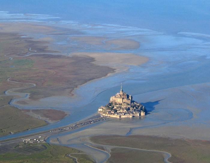 Castillos Medievales Castillos Medievales Mont Saint Michel, Francia vista panorámica