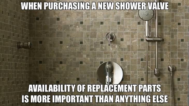1. Al comprar una válvula de ducha nueva, la disponibilidad de piezas de repuesto es más importante que cualquier otra cosa.