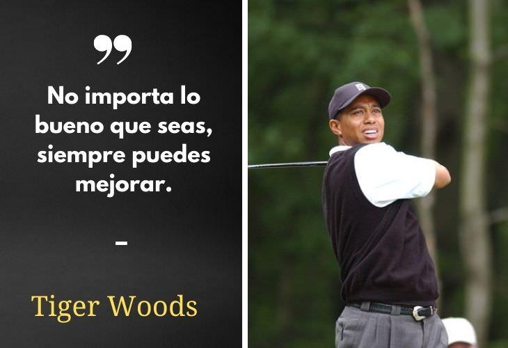 10 Poderosas Frases De Deportistas Que Te Motivarán Tiger Woods, golfista